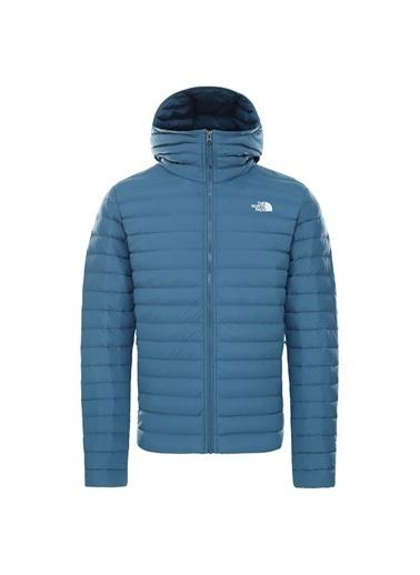 The North Face Stretch Down Hoodie Erkek Ceket - T93Y55Q31 Mavi
